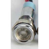 Voyant chromé LED Blanc 6v