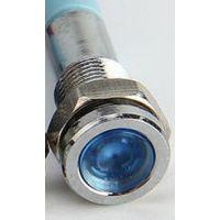 Voyant chromé LED Bleu 6v