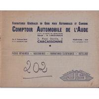 Peugeot 202 - Catalogue piece detachees adaptable
