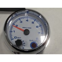 Compte tours noir 12V Diamétre 95cm avec support pour 4,6 et 8 Cylindre