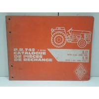 Tracteur Renault R77/777/717/78/718 - Catalogue pieces de rechange 4eme edition