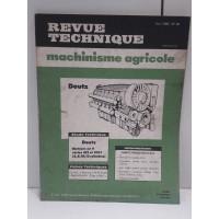 Deutz Moteurs serie 413 413F - 1982 Revue Technique Agricole