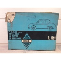 Renault Dauphine Gordini - 1961 - Catalogue piece detachees PR643
