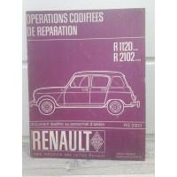 Renault R4 R1120 R1121 - Manuel de reparation MR61