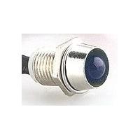 Voyant chromé LED Bleue